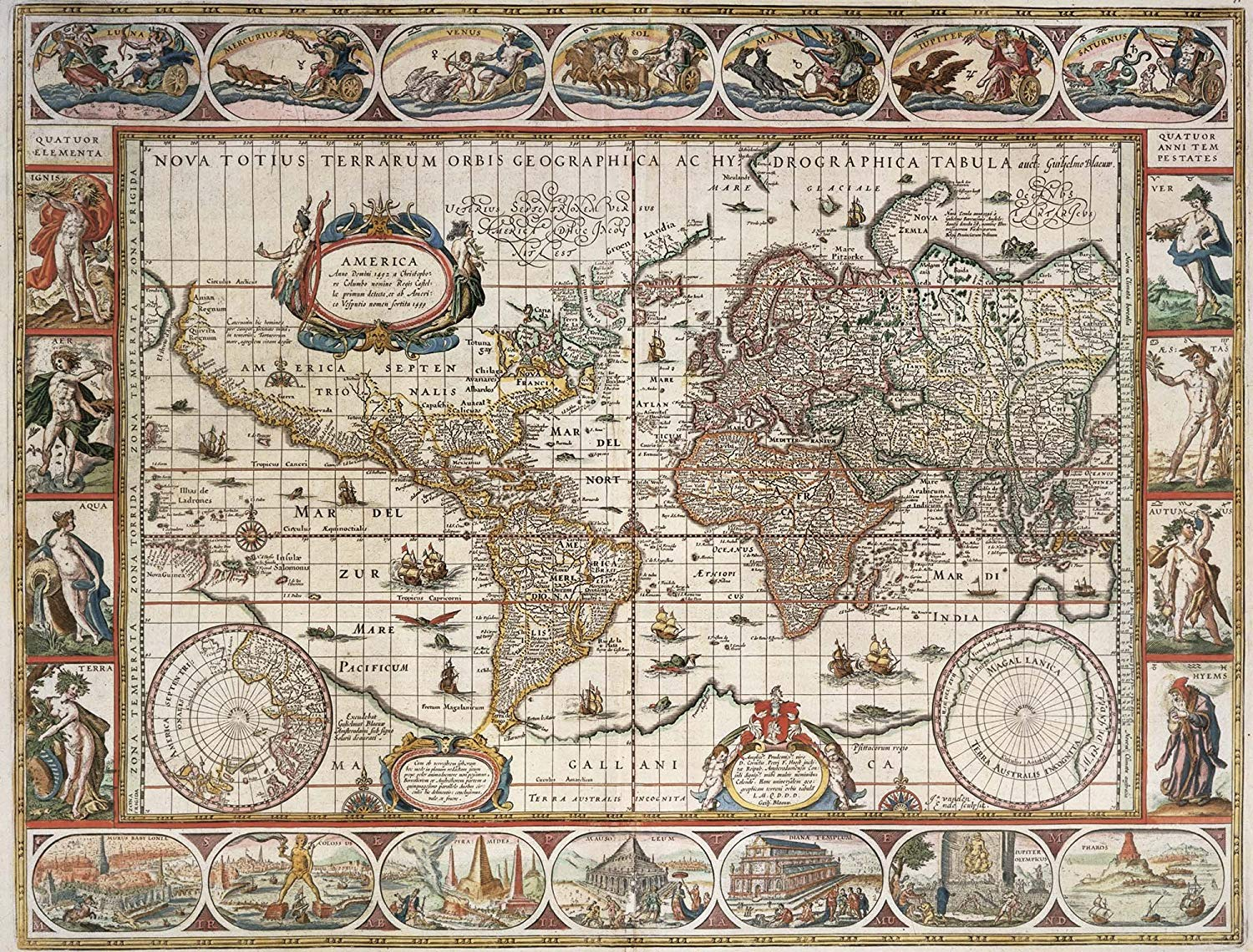 MAP OF THE WORLD FROM 1650 2000 PIECE JIGSAW PUZZLE