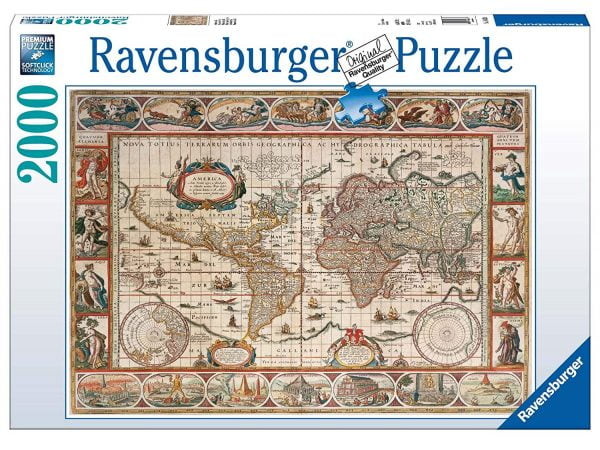 Map of the World from 1650 2000 Piece Jigsaw Puzzle - Ravensburger