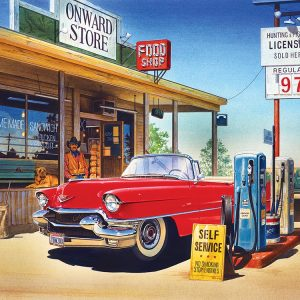 Onward Store Gas Station 500 Piece Jigsaw Puzzle - Sunsout
