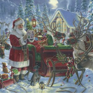 Packing the Sleigh 1000 Piece Jigsaw Puzzle - Ravensburger