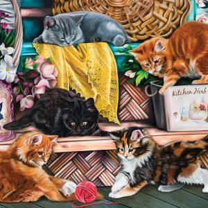Playful Kittens 1000 Piece Jigsaw Puzzle - Sunsout