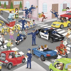 Police on Patrol 100 XXL Piece Jigsaw Puzzle - Ravensburger