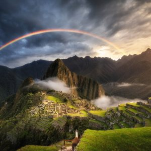 Rainbow over Machu Picchu Peru 1000 Piece Jigsaw Puzzle - Ravensburger