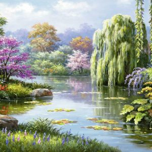Romantic Pond View 500 Piece Jigsaw Puzzle - Ravensburger