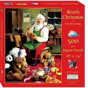 Bearly Christmas 500 Piece Jigsaw Puzzle