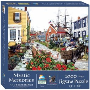 Sunsout 2019 Gassing Up by Artist Susan Brabeau 500 Piece Cars Jigsaw Puzzle