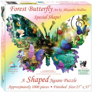 Forest Butterfly 1000 Piece Shaped Jigsaw Puzzle - Sunsout