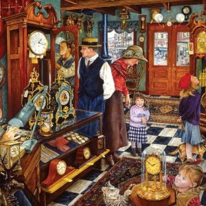 The Clock Shop 1000 Piece Jigsaw Puzzle - Sunsout