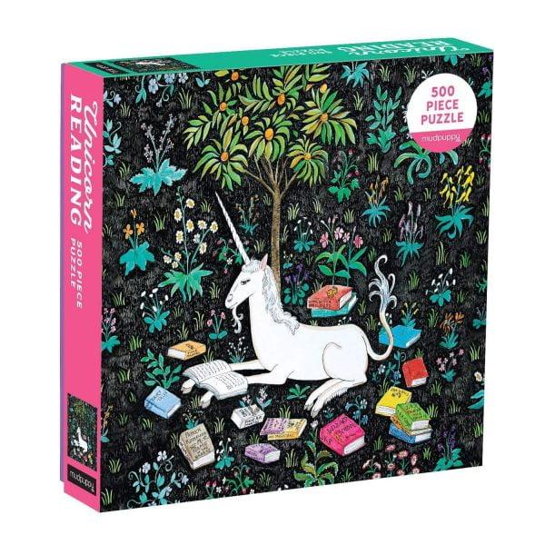 Unicorn Reading 500 Piece Family Jigsaw Puzzle - Mudpuppy