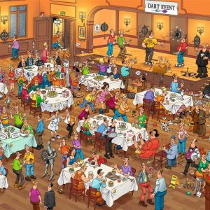 Van Jan Haasteren - Darts 1000 Piece Jigsaw Puzzle - Jumbo