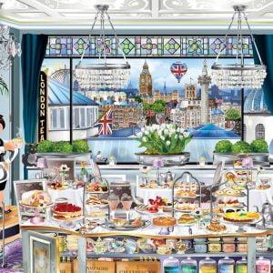 Wanderlust London Tea Party 1000 Piece Jigsaw Puzzle - Ravensburger