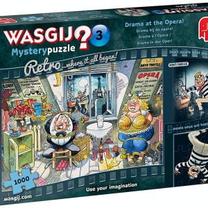 Wasgij Mystery Retro 3 - Drama at the Opera 1000 Piece Jigsaw Puzzle - Jumbo