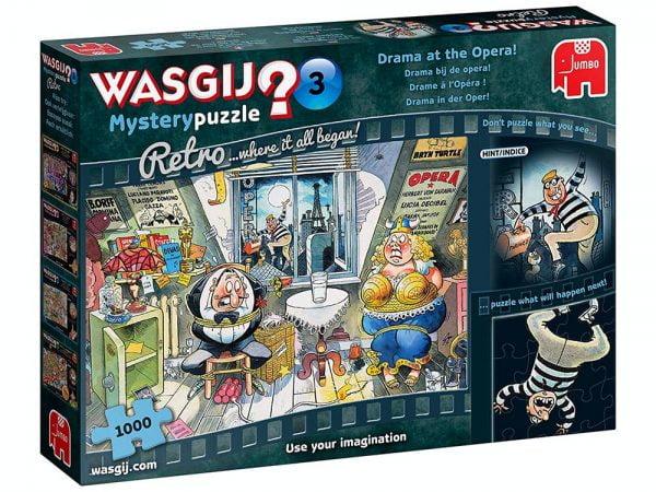 Wasgij Mystery Retro 3 - Drama at the Opera 1000 Piece Jigsaw Puzzle - Jumbo