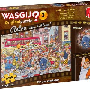 Wasgij Original Retro 3 - Full Monty Fever 1000 Piece Jigsaw Puzzle - Jumbo
