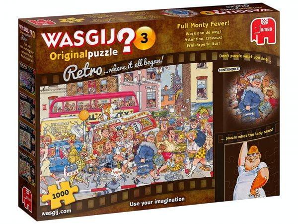 Wasgij Original Retro 3 - Full Monty Fever 1000 Piece Jigsaw Puzzle - Jumbo