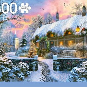 Whitesmiths Cottage in Winter 1500 Piece Jigsaw Puzzle - Jumbo