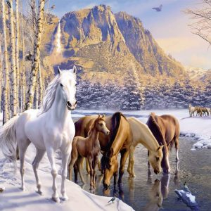 Winter Horses 200 XXL Piece Jigsaw Puzzle - Ravensburger
