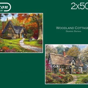 Woodland Cottages 2 x 500 Piece Jigsaw Puzzles - Falcon de luxe