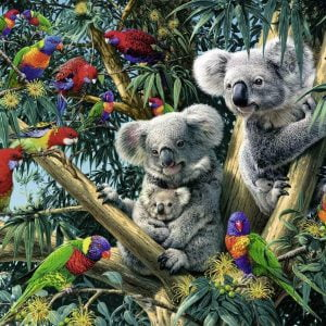 Koalas in a Tree 500 Piece Jigsaw Puzzle - Ravensburger