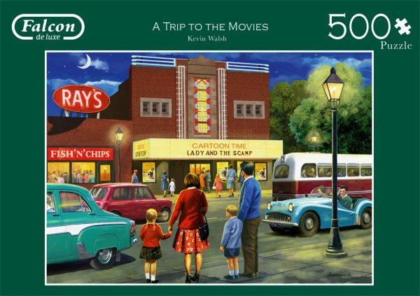 A Trip to the Movies 500 Piece Jigsaw Puzzle - Falcon de Luxe