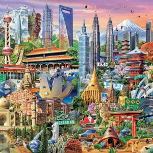 Asia Landmarks 1500 Piece Jigsaw Puzzle - Educa