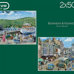 Bowness and Keswick 2 x 500 Piece Jigsaw Puzzles - Falcon de Luxe