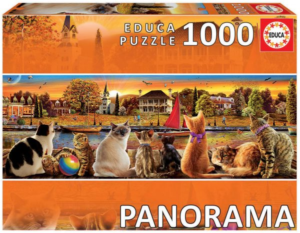 Cats on the Quay 1000 Piece Jigsaw Puzzle - Educa