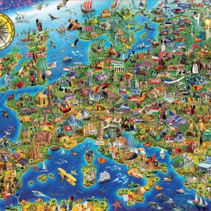 Crazy European Map 500 Piece Jigsaw Puzzle