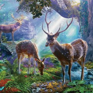 Deer in the Wild 500 Piece Jigsaw Puzzle - Ravensburger