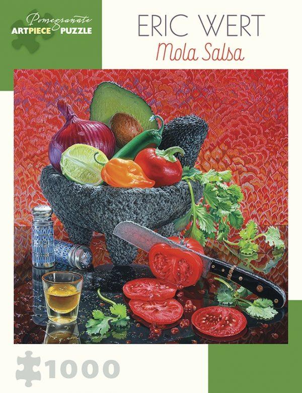 Eric Wert - Mola Salsa 1000 Piece Jigsaw Puzzle - Pomegranate