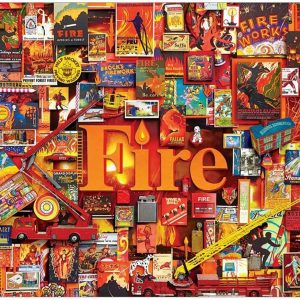 Fire 1000 Piece Jigsaw Puzzle - Cobble Hill