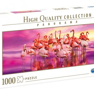 Flamingo Dance Panoramic 1000 Piece Jigsaw Puzzle - Clementoni