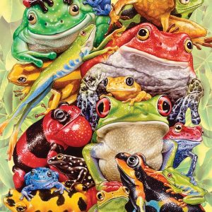 Frog Pile 350 Piece Family Jigsaw Puzzle - Cobble Hill