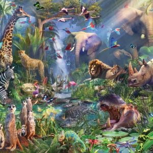 Into the Jungle 1000 Piece Jigsaw Puzzle - Cobble Hill
