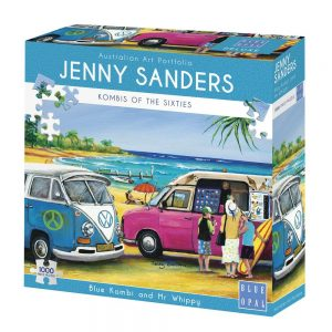 Jenny Sanders - Blue Kombi and Mr Whippy 1000 Piece Jigsaw Puzzle - Blue Opal