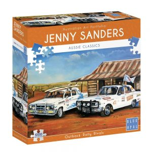 Jenny Sanders - Outback Rally Rivals 1000 Piece Jigsaw Puzzle - Blue Opal