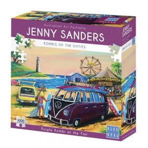 Jenny Sanders - Purple Kombi at the Fair 1000 Piece Jigsaw Puzzle - Blue Opal