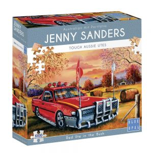 Jenny Sanders - Red Ute in the Bush 1000 Piece Jigsaw Puzzle - Blue Opal