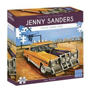 Jenny Sanders - Ute Muster 1000 Piece Jigsaw Puzzle - Blue Opal