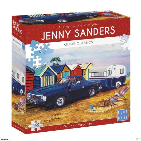Jenny Sanders - Valiant Vacation 1000 Piece Jigsaw Puzzle - Blue Opal