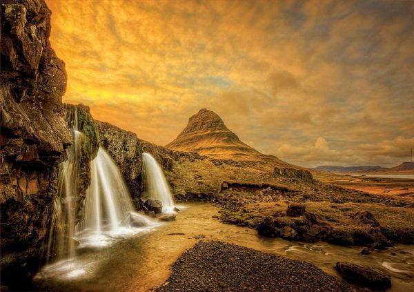 Kirkjufellsfoss Waterfall Iceland 1000 Piece Jigsaw Puzzle - Educa