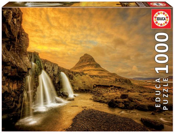 Kirkjufellsfoss Waterfall Iceland 1000 Piece Jigsaw Puzzle Educa