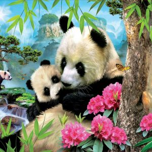 Morning Panda 1000 Piece Jigsaw Puzzle - Educa