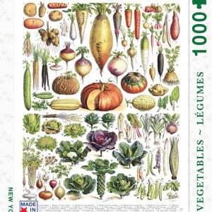 New York Puzzle Company - Vegetables - Legumes 1000 Piece Jigsaw Puzzle