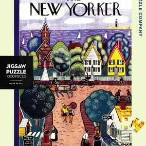 New York Puzzle Company - Village by the Sea 1000 Piece Jigsaw Puzzle