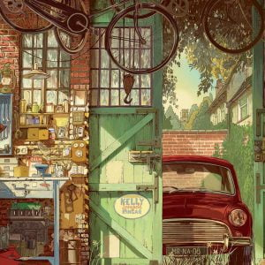Old Garage, Arly Jones 1500 Piece Jigsaw Puzzle - Educa