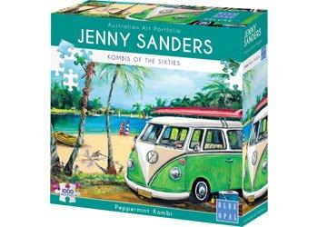 Jenny Sanders - Peppermint Kombi 1000 Piece Jigsaw Puzzle - Blue Opal