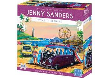 Jenny Sanders - Purple Kombi 1000 Piece Jigsaw Puzzle - Blue Opal