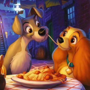 Disney Lady and the Tramp Moments 1000 Piece Jigsaw Puzzle - Ravensburger