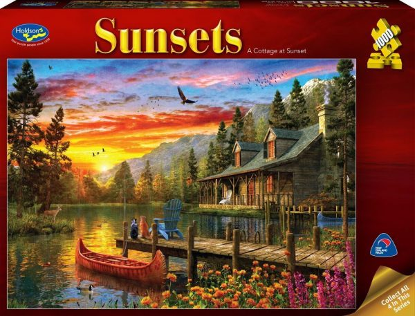Sunsets - A Cottage at Sunset 1000 Piece Jigsaw Puzzle - Holdson